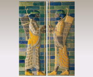 ペルシャ王親衛隊の射手(右・左)