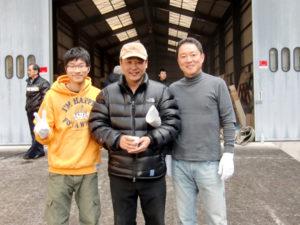 国際共同制作ドラマ「悪い男」撮影風景 イ・ヒョンミン監督と竹川館長