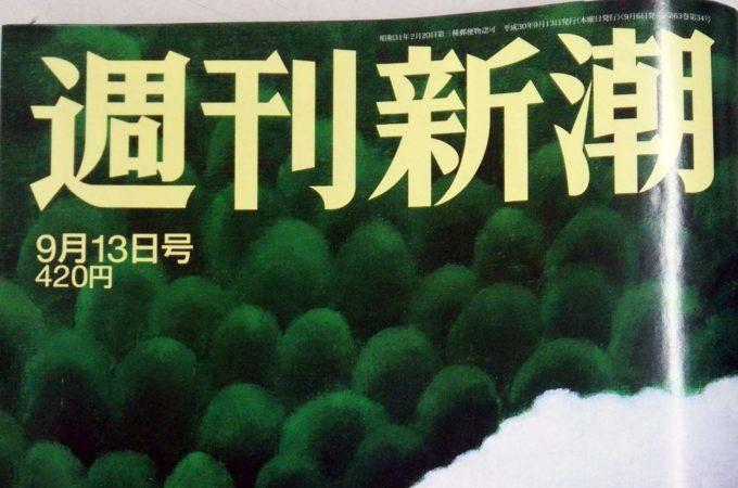 週刊新潮9月13日号