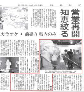 2020年5月10日読売新聞掲載 ルーブル彫刻美術館の記事